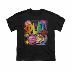 Double Bubble Shirt Kids Splat Gum Black T-Shirt