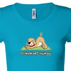 Downward Human Ladies Yoga Shirts
