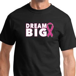 Dream Big Mens Breast Cancer Awareness Shirts