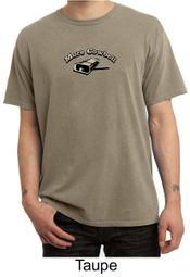 Drummer Shirt More Cowbell Funny Musician Adult Pigment Dyed Shirt