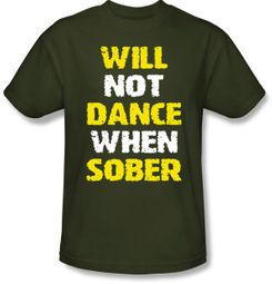 Drunk Shirt - Funny Drinking Army Green T-shirt