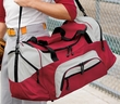 Duffel Bag - Color Block Sport Carrier Bag with Pockets