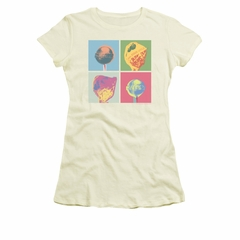 Dum Dums Shirt Juniors Pop Art Cream T-Shirt