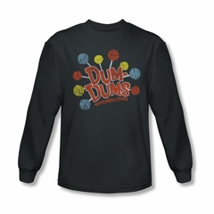 Dum Dums Shirt Original Pops Long Sleeve Charcoal Tee T-Shirt