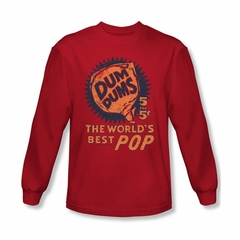 Dum Dums Shirt The Best Pop For 5 Cents Long Sleeve Red Tee T-Shirt