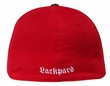 Eagle Embroidered Distressed Patch Hat - Lackpard Flexible Cap - Red