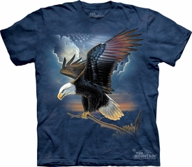 Eagle Shirt Tie Dye The Patriot T-shirt Adult Tee