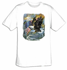 Eagle T-shirt - American Pride Patriotic Adult Tee