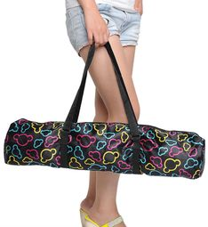 Earth Friendly Yoga Mat Bag - Black