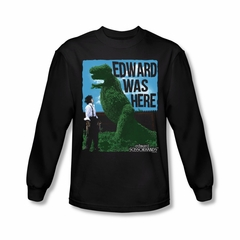 Edward Scissorhands Shirt Edward Was Here Long Sleeve Black Tee T-Shirt