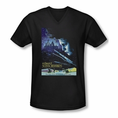 Edward Scissorhands Shirt Slim Fit V Neck Poster Black Tee T-Shirt
