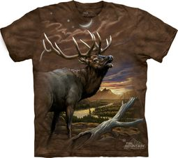 Elk Shirt Tie Dye At Dusk T-shirt Adult Tee