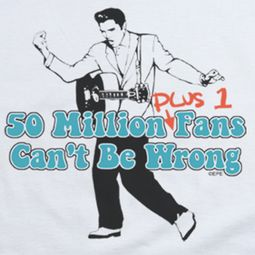 Elvis Presley 50 Million Fans Plus 1 Shirts