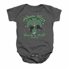 Elvis Presley Baby Romper Future King Charcoal Infant Babies Creeper