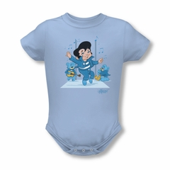 Elvis Presley Baby Romper Jailhouse Rocker Light Blue Infant Babies Creeper