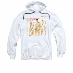 Elvis Presley Hoodie 50 Million White Sweatshirt Hoody