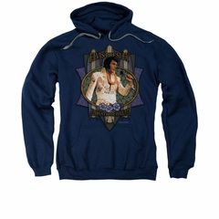 Elvis Presley Hoodie Aloha From Hawaii Navy Sweatshirt Hoody