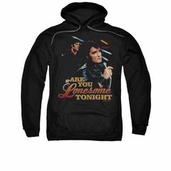 Elvis Presley Hoodie Are You Lonesome Black Sweatshirt Hoody