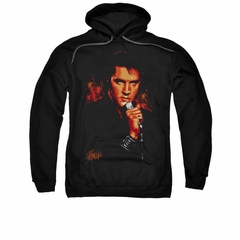 Elvis Presley Hoodie Blue Eyes In The Dark Black Sweatshirt Hoody