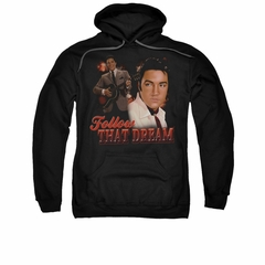 Elvis Presley Hoodie Follow That Dream Black Sweatshirt Hoody