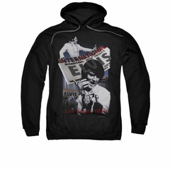 Elvis Presley Hoodie International Hotel Black Sweatshirt Hoody