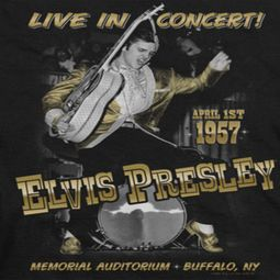 Elvis Presley Live In Buffalo Shirts