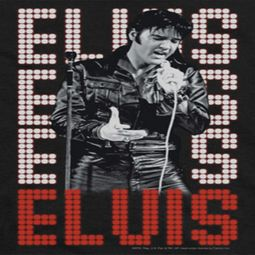 Elvis Presley Name In Lights Shirts