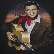 Elvis Presley Red Scarf 2 Shirts