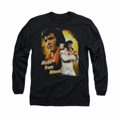 Elvis Presley Shirt Aloha Sing It Long Sleeve Black Tee T-Shirt