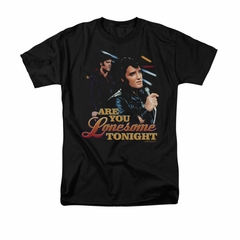 Elvis Presley Shirt Are You Lonesome Black T-Shirt