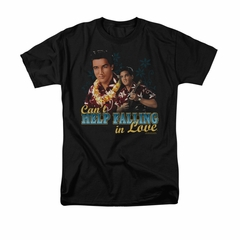 Elvis Presley Shirt Can't Help Falling Black T-Shirt