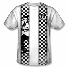 Elvis Presley Shirt Checkered Bowling Sublimation Shirt