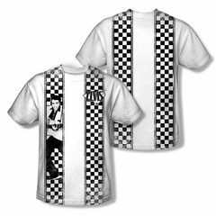 Elvis Presley Shirt Checkered Bowling Sublimation Shirt Front/Back Print