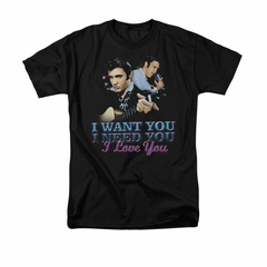 Elvis Presley Shirt I Want You Black T-Shirt