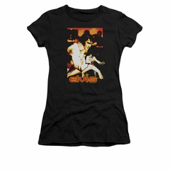 Elvis Presley Shirt Juniors Showman Black T-Shirt