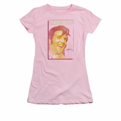 Elvis Presley Shirt Juniors Trouble With Girls Pink T-Shirt