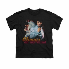Elvis Presley Shirt Kids Always On My Mind Black T-Shirt