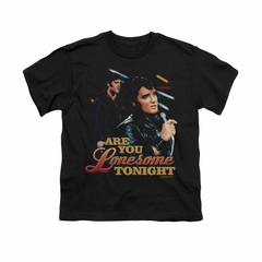 Elvis Presley Shirt Kids Are You Lonesome Black T-Shirt