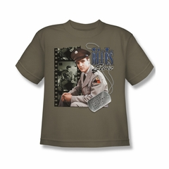 Elvis Presley Shirt Kids GI Blues Safari Green T-Shirt