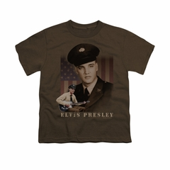 Elvis Presley Shirt Kids GI Uniform Coffee T-Shirt
