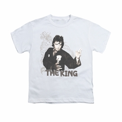 Elvis Presley Shirt Kids Karate Dragon White T-Shirt