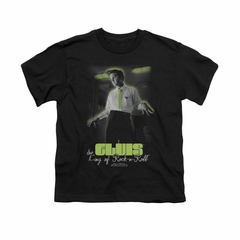 Elvis Presley Shirt Kids Practice Makes Perfect Black T-Shirt