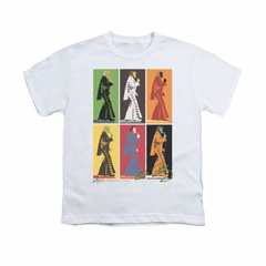 Elvis Presley Shirt Kids Retro Boxes White T-Shirt