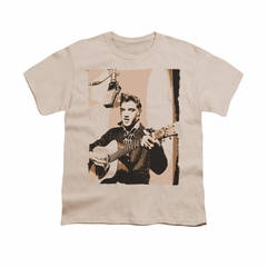 Elvis Presley Shirt Kids Sepia Studio Cream T-Shirt