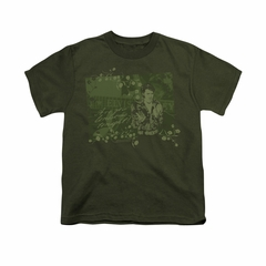 Elvis Presley Shirt Kids That 70's Military Green T-Shirt