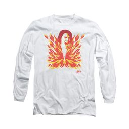 Elvis Presley Shirt Latest Flame Long Sleeve White Tee T-Shirt
