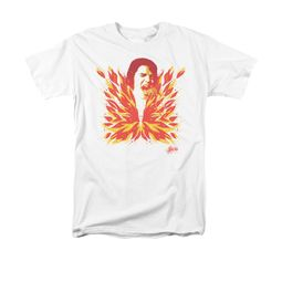 Elvis Presley Shirt Latest Flame White T-Shirt