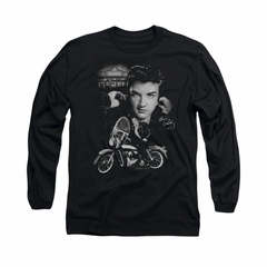 Elvis Presley Shirt Rides Again Long Sleeve Black Tee T-Shirt