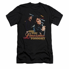 Elvis Presley Shirt Slim Fit Are You Lonesome Black T-Shirt