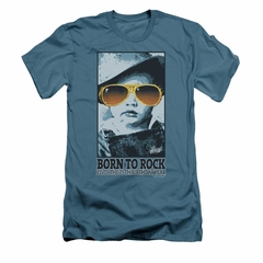 Elvis Presley Shirt Slim Fit Born To Rock Slate T-Shirt